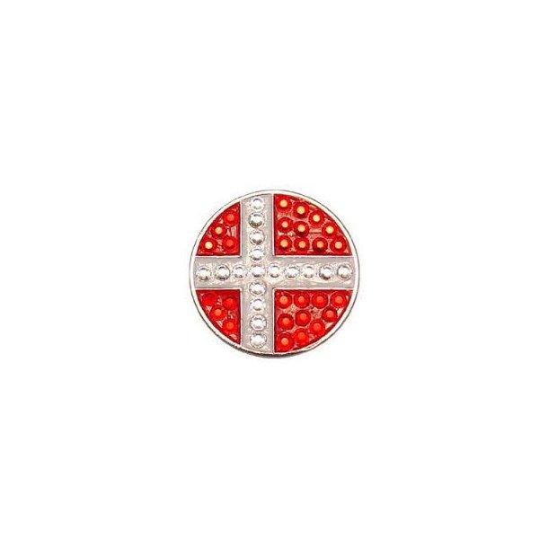 Bella Crystal Hat Clip Dansk Flag - Diverse